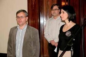 Záštitu nad sbírkou převzala radní Prahy 8 Markéta Adamová, organizaci měl na starosti zastupitel Michal Švarc (vlevo). Patronem byl i herec Jiří Schwarz